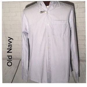 Old Navy button down men's top small striped